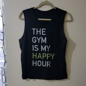 """*3 for $10 tanks"""" The Gym Is My Happy Hour"""